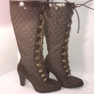 Really Unique Pair of Leather Michael Kors Boots 9